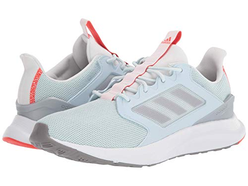 adidas Women's Energyfalcon X Running Shoe, Sky Tint/Grey/Solar Red, 8