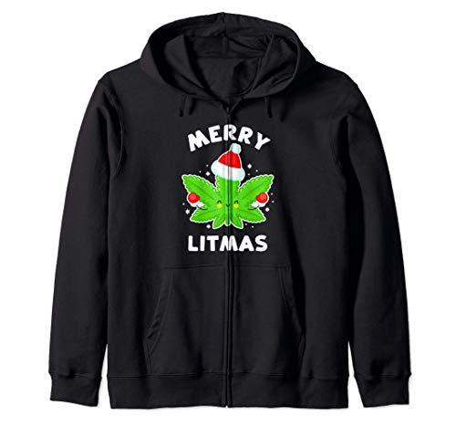 Merry Litmas - Divertente pentola natalizia Felpa con Cappuccio