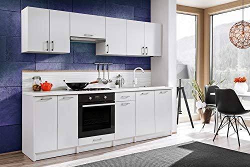 Muebles Cocina Completa,240 cms, Modulos de cocinas ref-07 (Blanco)