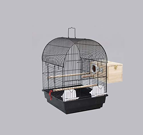 Z-W-DONG Ferro Allevamento Scatole, Cockatiels Coniglio Hedgehog Finestra Gabbie di visualizzazione in acciaio inossidabile con la maniglia di Voliere Uccelli/Gabbie ( Color : B , Size : 51*40*35CM )