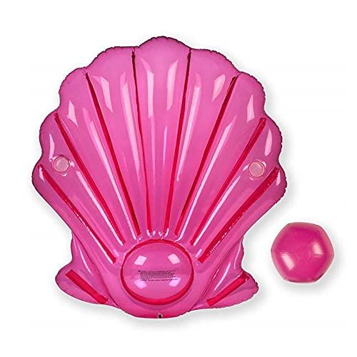 Matilda Rosa Muschel kreativ mit Perle schwimmende Reihe, Muschel Jakobsmuschel schwimmende Bett Schwimmring, Urlaub Party liefert