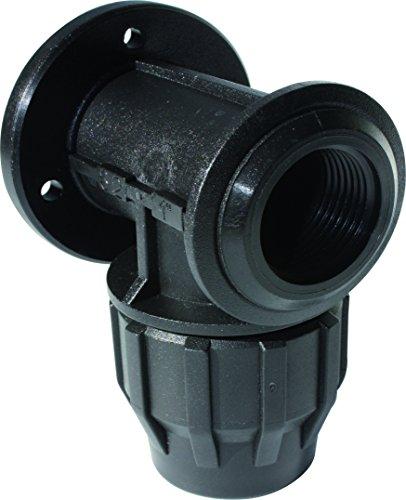 "S&M 725951 Codo Grifo con Refuerzo Acero Inoxidable para tubería 32 mm-1"", Negro"