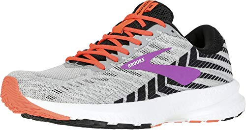 Brooks Launch 6 Grey/Black/Purple 9.5 D - Wide