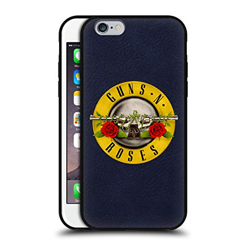 Head Case Designs Ufficiale Guns N' Roses Pieno Logo Cover in Pelle Parte Posteriore Blu Compatibile con Apple iPhone 6 / iPhone 6s