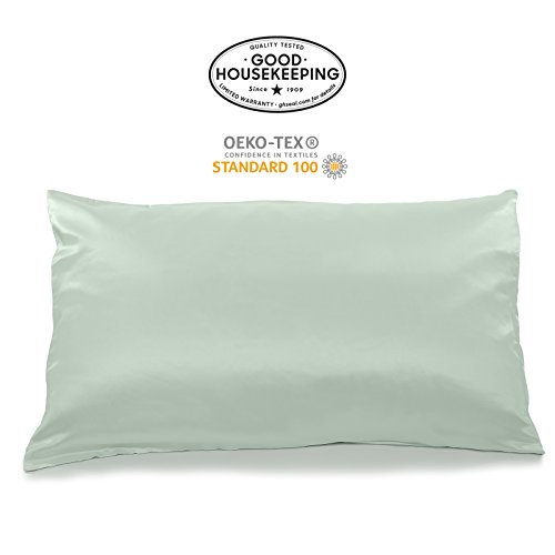 Fishers Finery 19mm 100% Pure Mulberry Silk Pillowcase Good Housekeeping Quality Tested (Light...