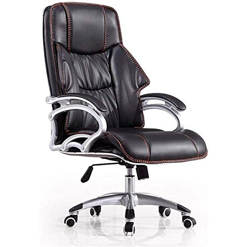 DJDLLZY Liggande stolar vardagsrum fåtöljer hög rygg chef stol lyft roterande datorstol företag läder konst chef stol verkställande stol