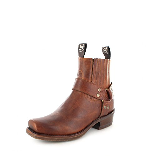 Sendra Boots Damen Herren Biker Boots 8286 Tang Stiefelette Braun 41 EU