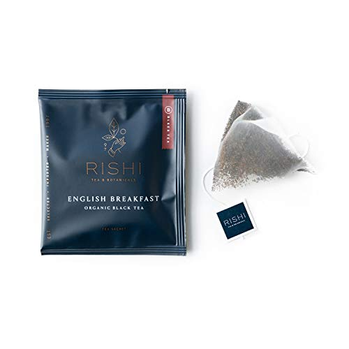 Rishi Tea English Breakfast Herbal Tea | Immune & Heart Support, USDA Certified Organic, Fair Trade Black Tea, Caramel Sweetness, Robust & Malty, Antioxidants | 50 Sachet Tea Bags