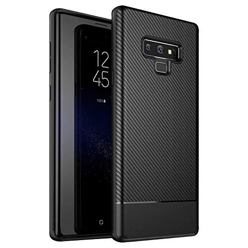 AVANA Hülle für Samsung Galaxy Note 9 Schutzhülle Slim Fit Hülle Schwarz Schutz Silikon TPU Kratzfest Handyhülle Bumper Cover - Carbon Optik