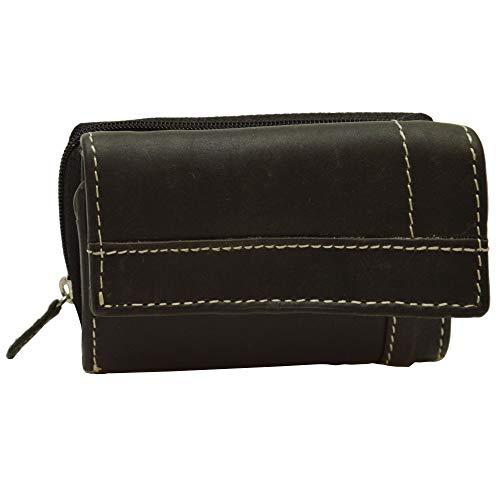 Sportlich handliche Geldkarten Geldbörse mit Münzfach und RFID Schutz (schwarz)