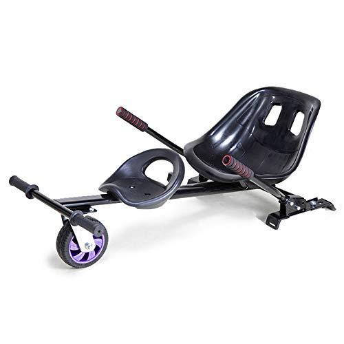 Byjia Accesorio De Asiento Doble para Hoverboard, Accesorio De Kart De Asiento Extraíble, Compatible con Hoverboards De 6.5   8    10 ,Negro