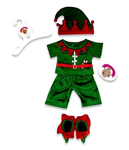 Build your Bears Wardrobe- Orsacchiotto Vestiti Elfo, Colore Red/Green, 5060322145396