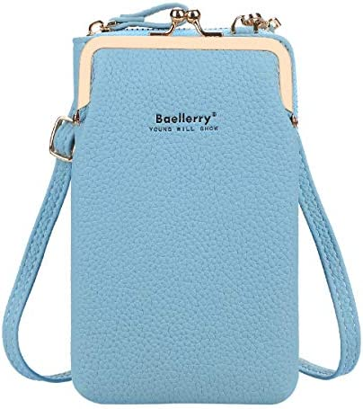 imeetu Small Women PU Leather Cell Phone Wallet Purse Crossbody Bags Blue product image