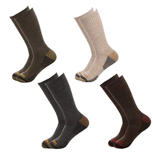 Timberland Socks (4 Pairs) Crew Socks For Boys, Kids Socks, Outdoor Indoor Boot Socks, Dress Socks