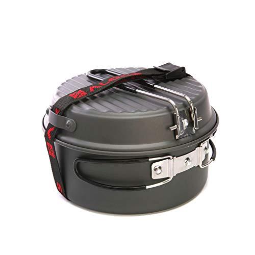 WYFDM Ensemble de Cuisine Sports de Plein air Portable Camping Randonnée Pêche Pique-Nique Ustensiles de Cuisine Pot Pan Bol Coupe Outil Camp Portable 9 Pcs