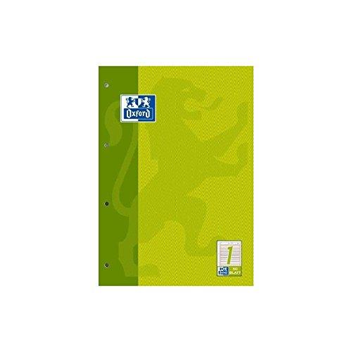 Oxford 100050340 Arbeitsblock Linien 1 - A4, 50 Blatt, 90 g/qm, 4-fach Lochung
