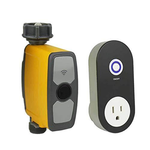 RUIXFHA WiFi Reloj de Riego Inteligente con App, Programador de Riego Automatico Temporizador de Agua Riego