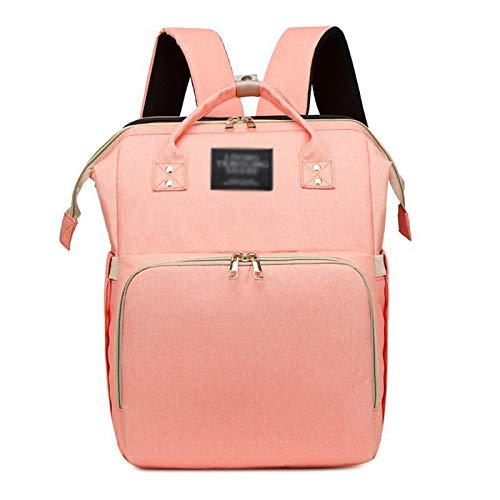 Bolsa de pañales 2 en 1, mochila impermeable, de gran capacidad, bolsa para mamá, plegable, portátil, de viaje, para mamá, mochila para cama, cuna con bolsillo de aislamiento más cálido, para dormir