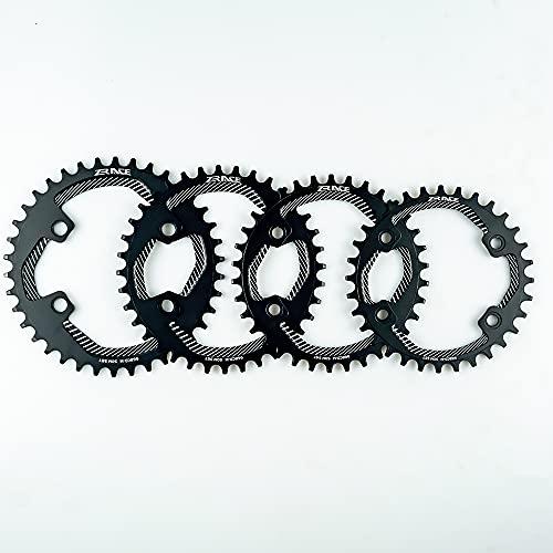 MENGGOO Cainwheels BCD96-M para M8000 M7000 M6000,32T 34T 36T 38T AL7075 CNC Proceso, Vickers-Durness 15+ para Nuevo (Chainwheel Teeth : 32T, Color : Black)