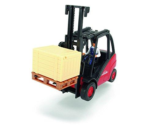 Dickie Toys 203742005 - Cargo Lifter, Gabelstapler mit Palette und Box