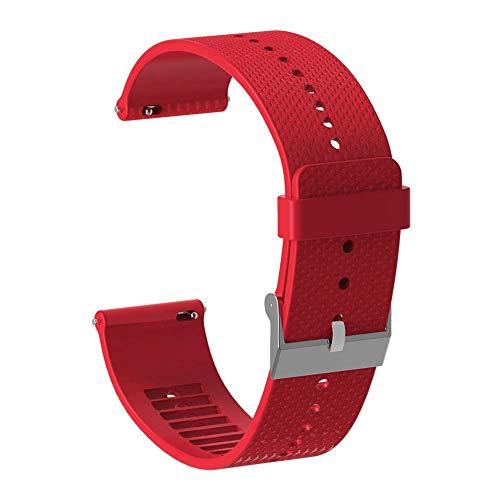 CUHAWUDBA 20Mm Correa de Reloj de Silicona Correa de Pulsera para ccesorios de Reloj Inteligente Polar Ignite Correa de Reloj Pulsera Rojo