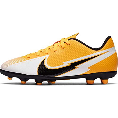 Nike Jr. Mercurial Vapor 13 Club MG Youth Soccer Cleats (Numeric_2_Point_5) Yellow/White/Black