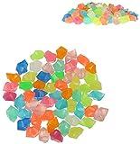 300PCS Piedras Luminosas Jardín Piedras Decorativas Guijarros Brillantes para Jardín Hogar Aire Libre Parques Peceras Acuario (Colorida)