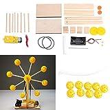 JCCOZ -URG DIY Electrónica Bloques de Construcción de la Rueda de la Ferris Kit de Juguetes hechos a mano URG
