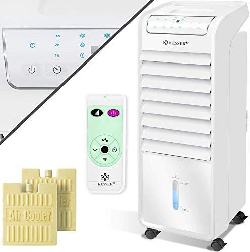 KESSER® 4in1 Mobile Klimaanlage | Fernbedienung | Klimagerät | Ventilator Klimaanlage | 4 L Tank | Timer | 3 Stufen | Ionisator Luftbefeuchter | Luftkühler |KK55, Farbe:Weiß