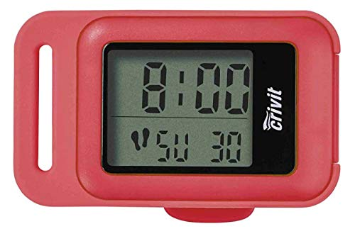 Crivit Schrittzähler mit 3-D Sensor, LC-Display & Befestigungsclip Rot
