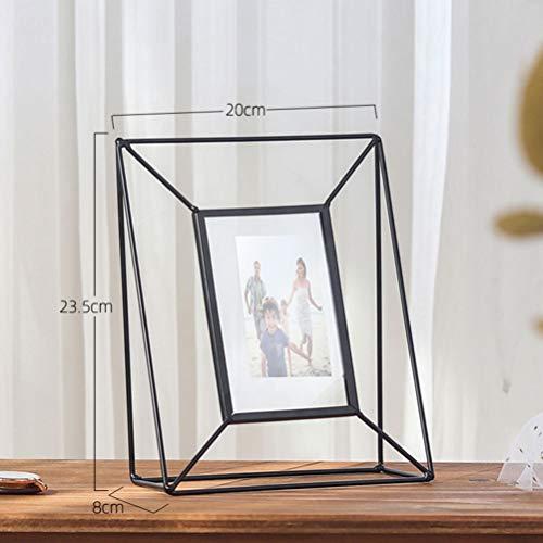 Imikeya Fotolijst van ijzer, elegant, voor foto's, fotolijst voor thuis, decoratie voor foto's van metaal