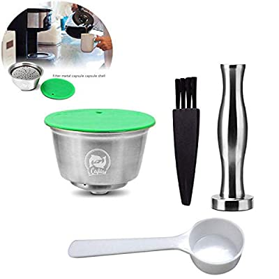 Ceepko Refillable Coffee Capsule, Stainless Steel Reusable Coffee Capsule Compatible with Nescafe Dolce Gusto Coffee Machine for Restaurants, Companies, Homes, Etc.