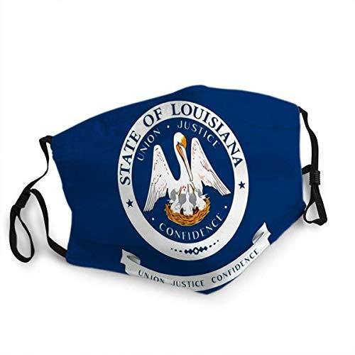 Wiederverwendbare Gesichtsschutz-Mundschutzflagge Louisiana ist EIN Bundesstaat in der südlichen Region der USA