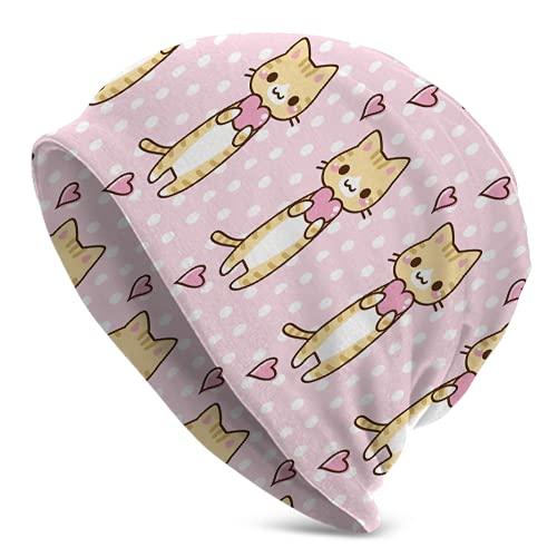Fodmua Love Cat - Gorro unisex para tejer de invierno con diseño de calavera, cálido