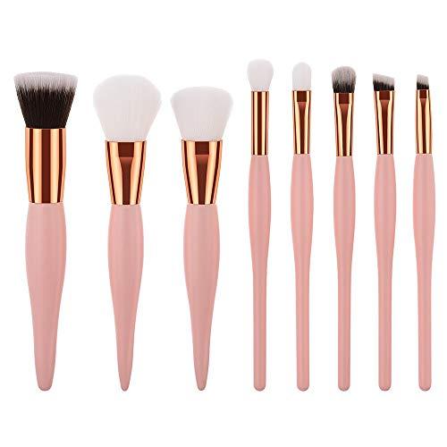 Pinceau de maquillage mis 8PCS poignée en bois haut de gamme Fond de teint liquide fard à joues Crayon à sourcils cosmétiques Correcteur Set outil Pinceau Matériel fiable (Handle Color : As shown)