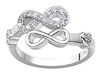 Jixin4you リング 指輪 レディース オシャレ ファッション 華奢 プレゼント 彼女 ジルコニア シルバー約19号