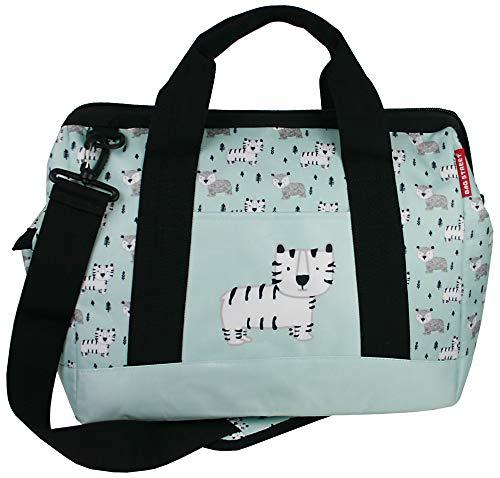 Baby Wickeltasche Große Babytasche Pflegetasche aufklappbar Kinder Reisetasche Multifunktions-Tasche 24 l Volumen (Blau)