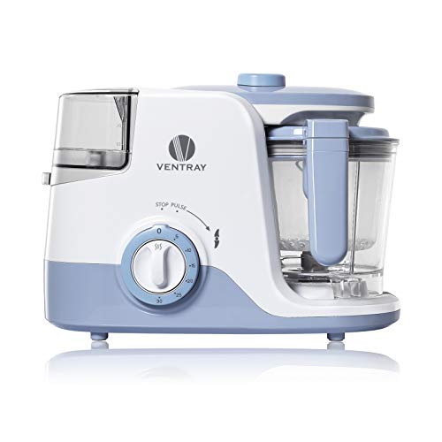 Ventray BabyGrow 600 Baby Food Maker, Multi-Function, All-in-one Processor for Twins & Triplets, Fast, Steamer, Blender, Clean, Chop, Defrost, Warm, Smoothie, Puree, Organic, Cook at Home, Purple