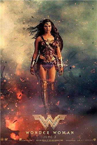 qianyuhe Impresión en Lienzo Wonder Woman 2017 Película GAL Gadot DC Moive Art Poster Decoración del hogar 60x90cm (24x36 Pulgadas
