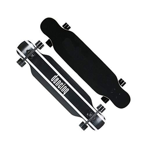 Adult Professionele longboard Teens Surfen dubbele ketting reizen straat houten dek Skateboard beginners Sport Four Wheel Scooter: Student Dansen U-vormig skateboard met licht Wheels-Meisjes-Jongens Autobaan Tre