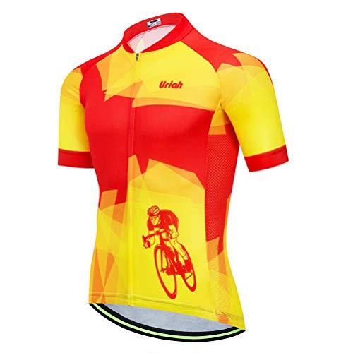 Uriah Men's Cycling Jersey Short Sleeve Reflective Warrior Size XL(CN)