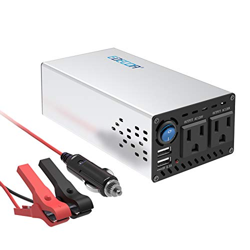 EDECOA 600W Car Power Inverter DC 12V to 110V AC Coverter with 4.2 Dual USB Ports and Dual AC Outlets Car Cigarette Lighter Adapter