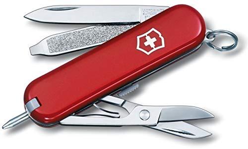 Victorinox Taschenmesser Signature (7 Funktionen, Klinge, Kugelschreiber, Schere) rot