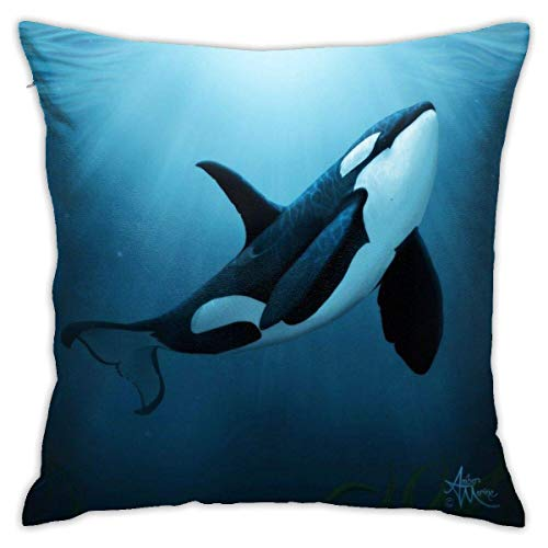 shenguang The Dreamer by Amber Marine ~ (Copyright 2015) Orca Art Killer Whale Digital Painting Tirar Almohadas, Fundas de Almohada, Floor Fundas de Almohada, Sofás, Cushion Covers, Cojín de