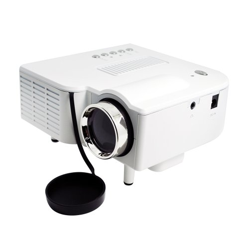 Mini UC28 400 Lumens Brightness Color LED Digital Projector Multimedia Home Cinema Theater perfect for DVD's pictures support AV USB SD 1080P