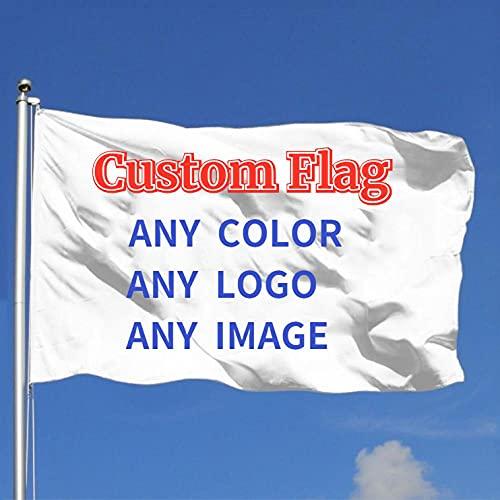 EKMON Benutzerdefinierte Flagge,Einzelne Flagge,Wetterfeste Fahnen und Flaggen mit Messing-Ösen in verschiedenen Größen-Drucken Sie Ihr eigenes Logo / Design 90*150cm
