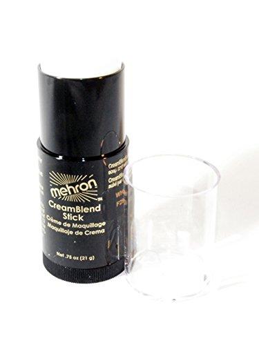 Mehron Mehron Creamblend Stick Makeup White Bouchon d'oreille 14 Centimeters Noir (Black)