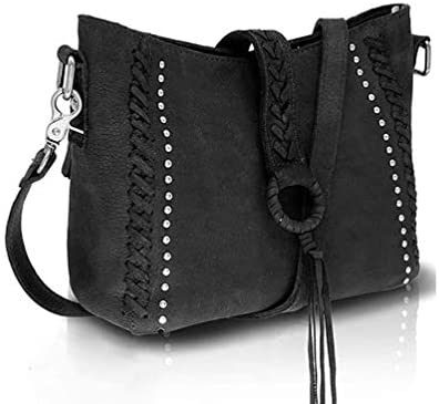 Real Cowhide Leather Crossbody Bags Studded Genuine Leather Hobo Handbag for Women With Shoulder product image