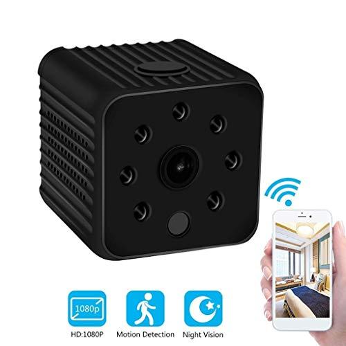 Spy Hidden Camera 1080P Cámara pequeña portátil con Alerta de detección de Actividad de la cámara de la niñera de visión Nocturna y el Modo de detección de Movimiento ( Color : +16G Memory Card )