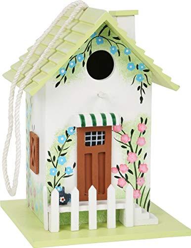 small foot 12050 Vogelhaus im Vintage-Stil aus Holz zum Aufhängen, dekorativer Nistkasten für den Garten, bunt,